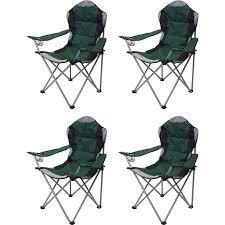 4x cingstuhl mcw d66 anglerstuhl faltstuhl klappstuhl regiestuhl gepolstert grün