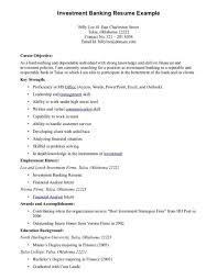 Resume Examples Best Good Career Objective For Investment Banking Example Breathtaking Teacher Freshers Engineer 1920