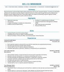65774 Insurance Resume Examples Samples