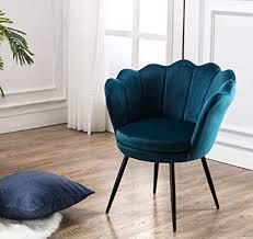 wahson sessel für schlafzimmer weicher samt armlehnstuhl mit schwarz metallbeinen freizeitsessel für wohnzimmer vanity blaugrün
