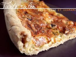 recette tarte salée au bleu noix edamame pâte brisée maison