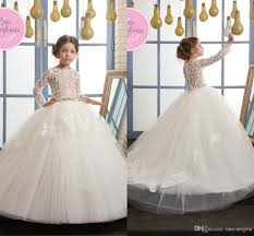 2017 newest puffy ball gowns little pageant dresses white