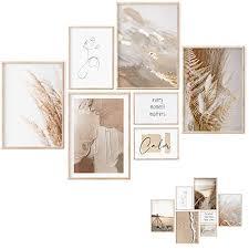 premium poster set 7 beidseitige bilder stilvolle home deko für schlafzimmer und wohnzimmer poster vintage bilder beige ohne bilderrahmen