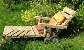 chaise longue palette mobilier en palettes ecologique