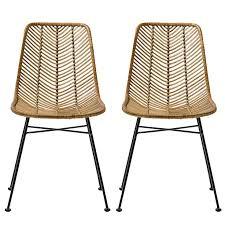 chaises en osier chaise osier materiaux naturels chagne