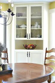 Built In Corner Cabinet Dining Room Best China Cabinets Ideas On Build Blind Pull Out