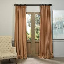 Thermal Curtain Liner Grommet by Exclusive Fabrics U0026 Furnishings Semi Opaque Flax Gold Vintage