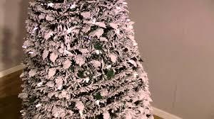 Christmas Tree Flocking Spray by Snowtime Flocked Pop Up Christmastree Youtube