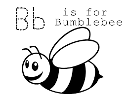Bee Coloring Pages B For Bumble