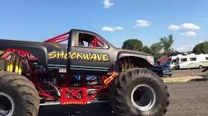 100 Monster Trucks Cleveland Billy An Jessica SHOCKWAVE BE AWARE MONSTER TRUCKS YouTube
