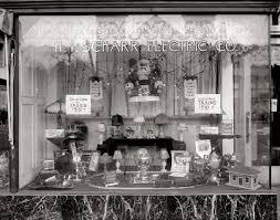 1920s Christmas Store Window Photo