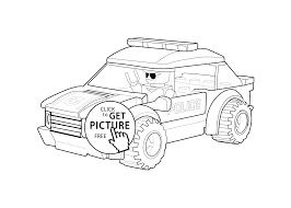 Car Coloring Page Lego Printable Free Inside