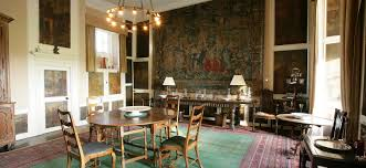 Kellie Castle Dining Room With Wall Tapestry And Paintings
