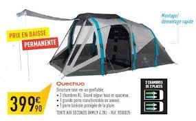 tente 4 places 2 chambres seconds family 4 2 xl quechua decathlon promotion tente air seconds family 4 2xl quechua