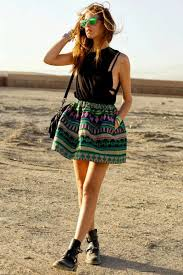 The Spring Style That Will Be In Top Trends For This Year Is Bohemian Chic Skater Skirt Outfit Photos Collected Via