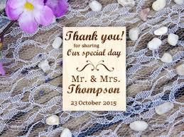 Custom Wedding Thank You Magnet Set Laser By HomeWoodAndTextile