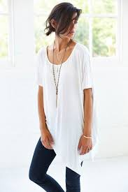silence noise silence noise skye trapeze tunic tee in white lyst
