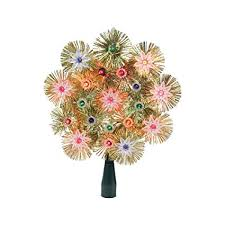 8quot Retro Gold Tinsel Snowflake Christmas Tree Topper