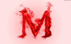 Alphabets Letter M Fire HD Wallpaper