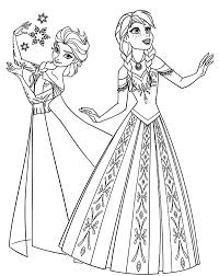 Princess Elsa And Anna Coloring Pages