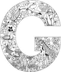 Click To See Printable Version Of Letter G With Animals Coloring Page