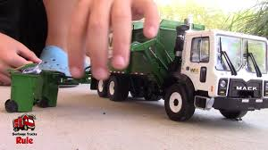 Garbage Truck Videos For Children L First Gear Mack Side Loader ...