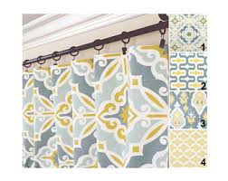 Yellow And Gray Kitchen Curtains by Window Curtains Etsy