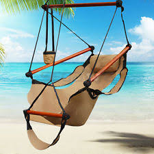Hanging Chair Indoor Ebay by Indoor Outdoor Soft Cotton Cradle Air Hammock Chair Sky