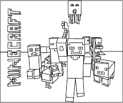 Download Printable Minecraft Mobs Coloring Pages