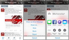 Twitter apps new link previews share sheet support on iOS