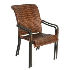 Hampton Bay Manila Bay Dark Brown Woven Stackable Patio Patio Chairs At Lowescom Contemporary Ding Chair Stackable Recyclable Product And Modern Lowes Round And Ding Outdoor Costco Alinum Depot Noble House Dover Multibrown Stackable Wicker Chair Mercury Row Corrales Stacking Reviews Wayfair Plastic Herman Miller California White Furnish Vifah 3d 2 Included In Outdoor Chairs Backydinajarcom Trade Winds Restaurant With Centauro Cantilever Couture