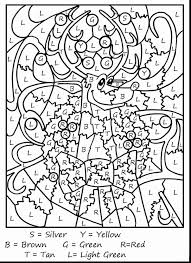 Astounding Christmas Printable Color With Reindeer Coloring Page And Santas Pages