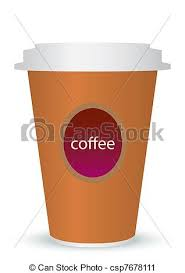 A Coffee Cup Vector Illustration With The Words To Go