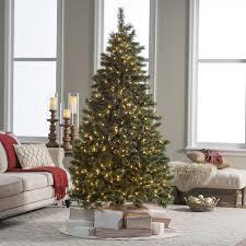 Downswept Slim Christmas Tree by Downswept Douglas Fir Medium Pre Lit Christmas Tree Hayneedle