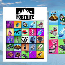 FREE Fortnite Bingo SO Many More Birthday Party Printables