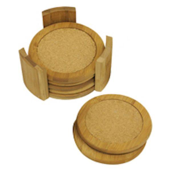 Home Basics Coaster Set - Bamboo, 7pcs