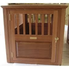 Mahogany Wooden Dog Crate