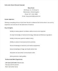 Call Center Resume Samples Example Free Word Documents Download For