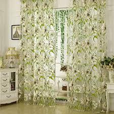 yujiao mao weiße blumen muster druck 1 er pack voile transparente ösen gardine schlafzimmer wohnzimmer vorhang bxh 140x245cm