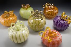 Glass Blown Pumpkins by Blown Glass Gifts And Small Vases