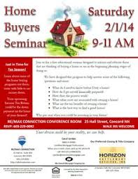 Home Buyers Seminar This Saturday In Concord Just Time For Tax Season