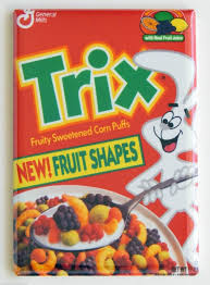 Trix Cereal When The Was Actually Shaped Like Fruit It Represented