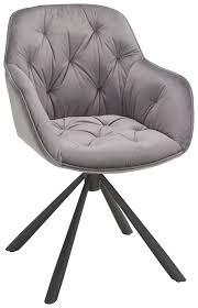 armlehnstuhl aus samt in grau