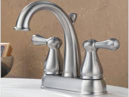 Brushed Nickel Bathroom Faucets Home Depot by Bathroom Faucets Cool And Opulent Delta Bathroom Sink Faucets