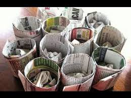 Newspaper Crafts DIY Useful Decorative Things Recycle Waste