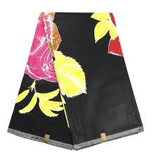 Black Color Java Wax Print Fabric Type Cotton Batik African Style For Women