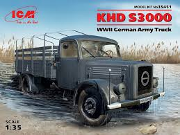 100 German Trucks KHD S3000 WWII Army Truck ICM 35451