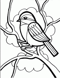 Download Coloring Pages Birds For Kids Page Free