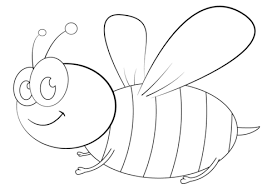 Click To See Printable Version Of Cartoon Bee Coloring Page