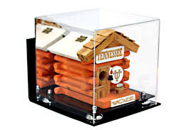 Versatile Deluxe Wall Mounted Acrylic Display Case Medium Square Box With Risers And Mirror 975